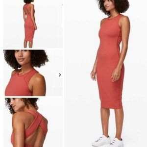 Lululemon Picnic Play Dress in Brick Rose Size 6